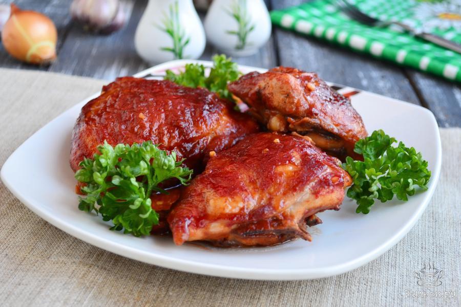 Куриные бедра рецепт с пошагово в