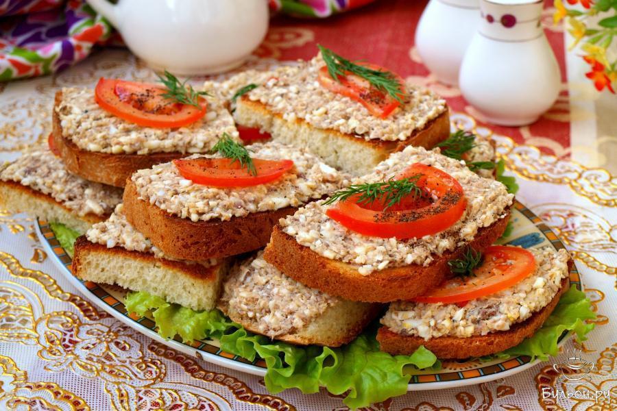 Праздничные рецепты с картинками бутерброды