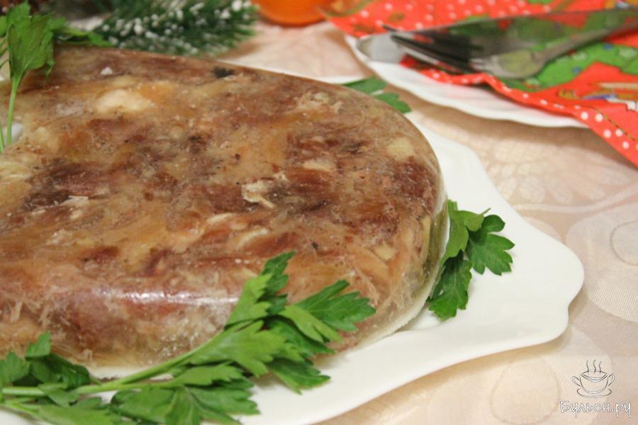 Холодец из свиной ноги рецепт с пошагово