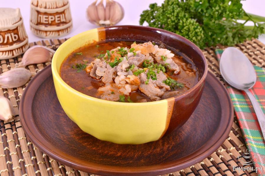 Рецепт суп харчо из свинины в домашних условиях 13