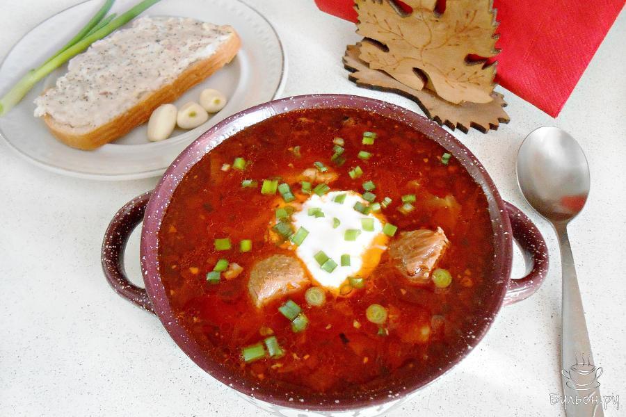 борщ украинский с фасолью рецепт с фото пошагово