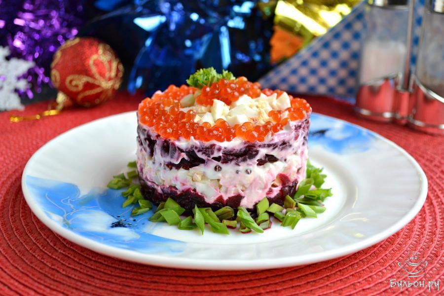 Салат с красной икрой рецепт с очень вкусный