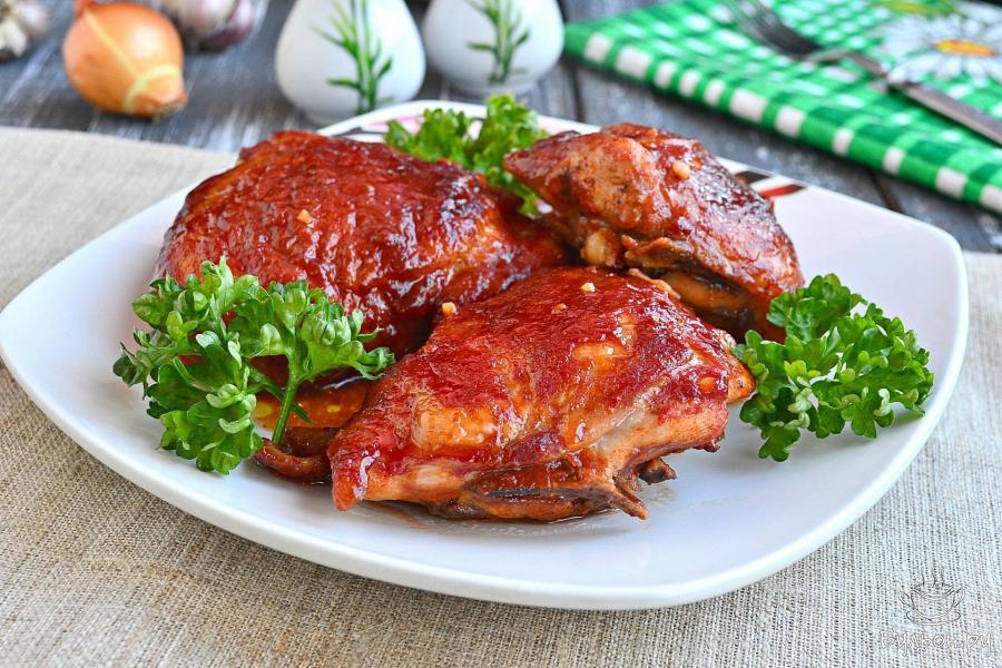 куриные бедра в соевом соусе в духовке