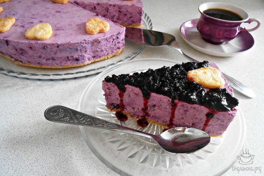Черничный чизкейк рецепт с фото пошагово