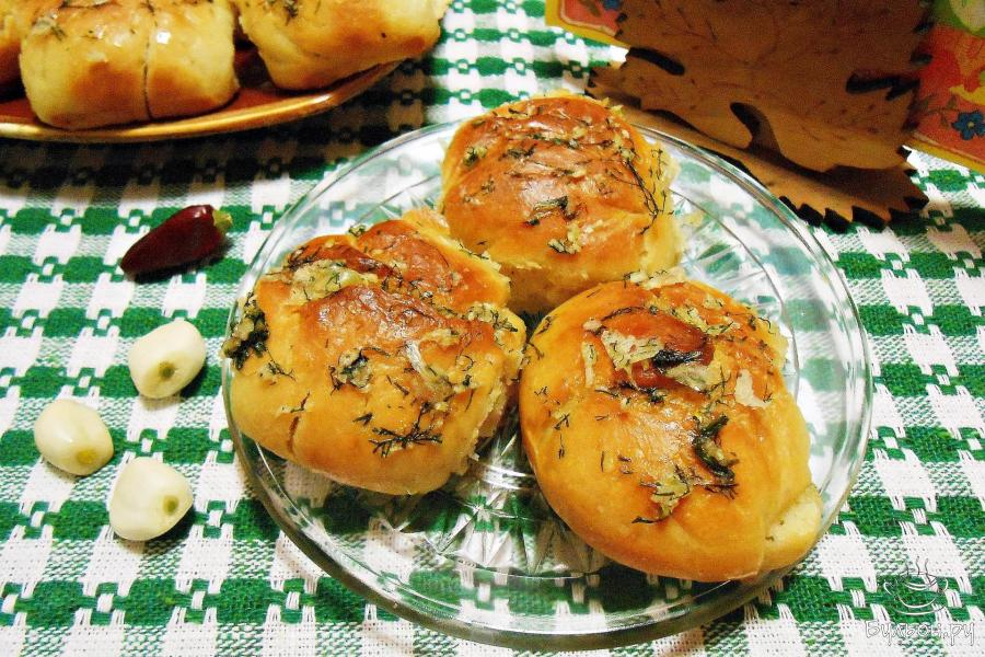 Рецепт с пошаговым пампушки с чесноком
