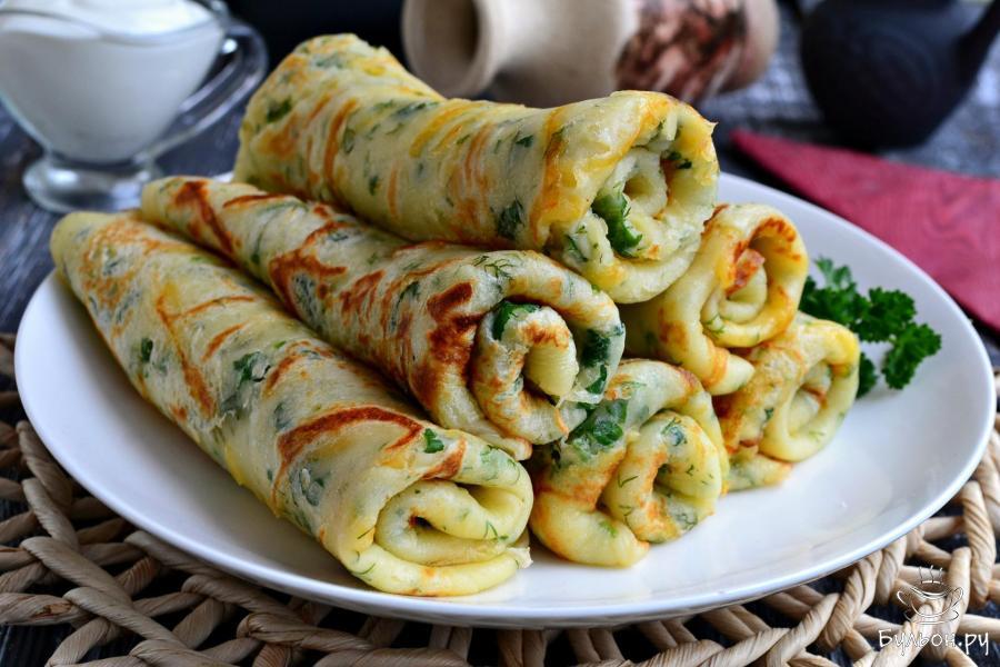 Сырные блины рецепт пошагово