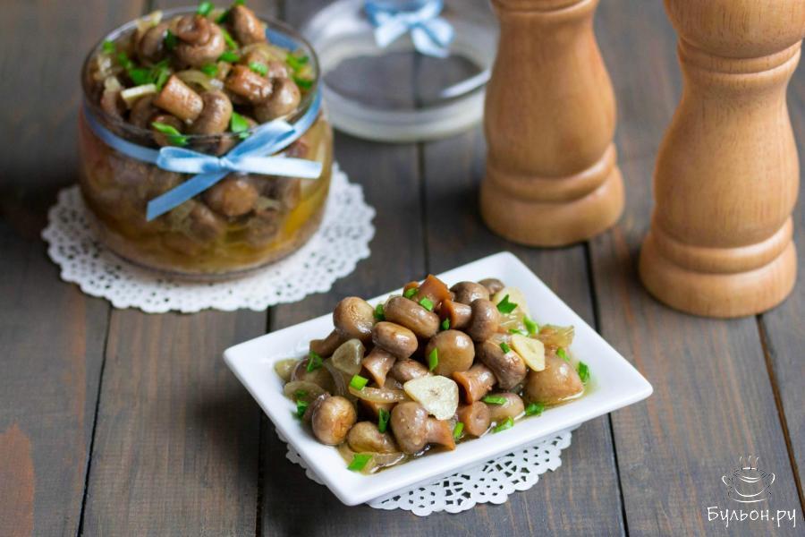 Маринованные шампиньоны быстрого приготовления - пошаговый рецепт с фото