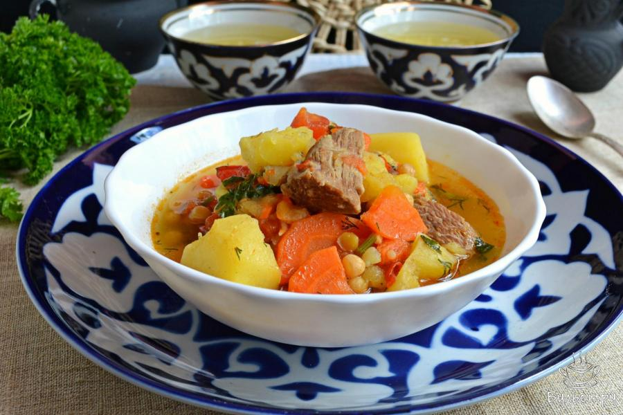 рецепт шурпы из говядины по-узбекски