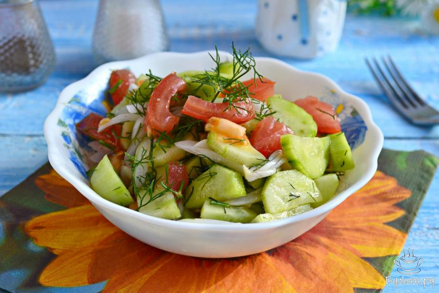 салат из помидоров быстрый