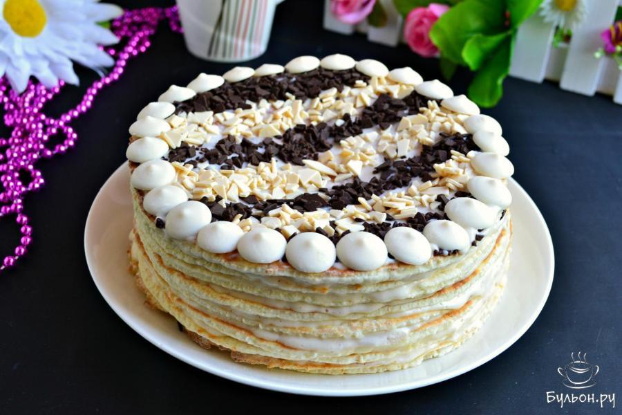 торт сметанковый пошаговый рецепт с фото нашем новом