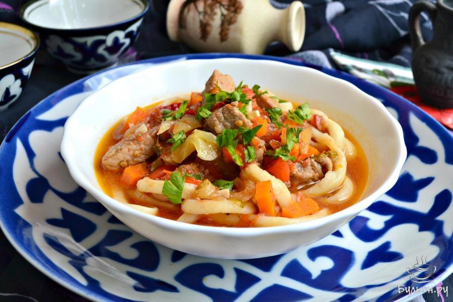 Рецепт лагмана по узбекски с пошагово