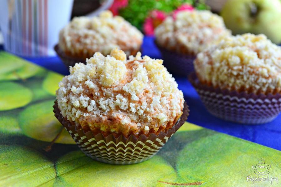 Яблочные капкейки рецепт пошагово