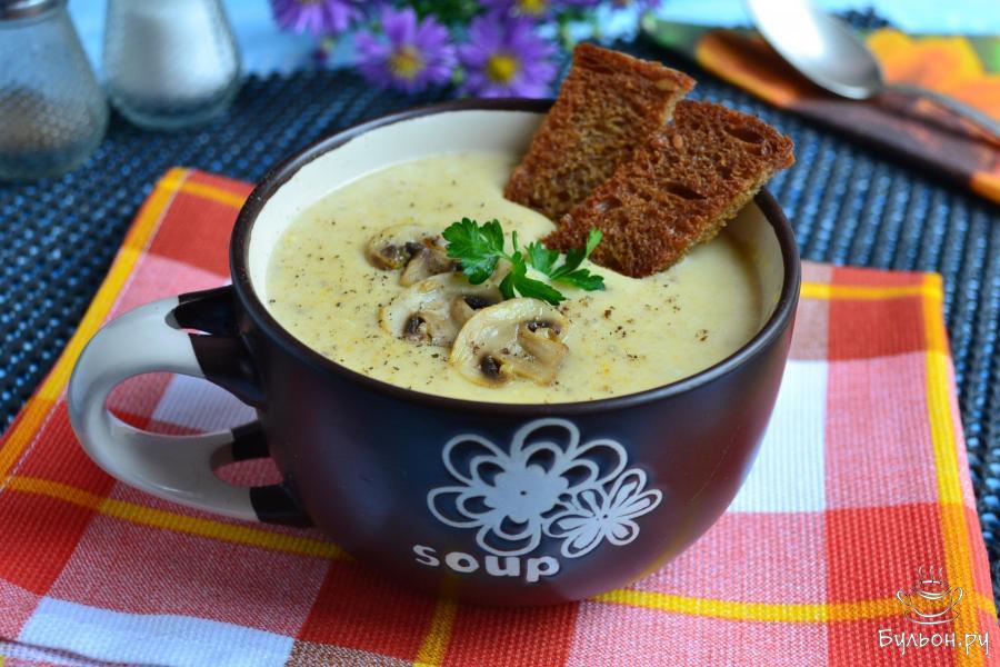 Грибной суп с сыром пошаговый рецепт с фото