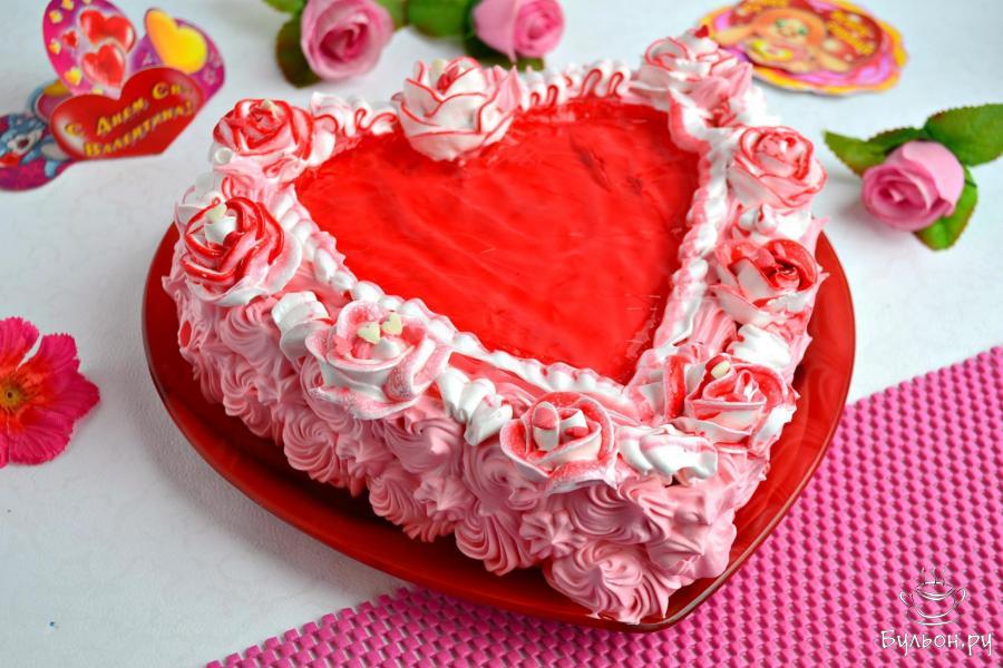 """Торт """"Нежное сердце"""""""