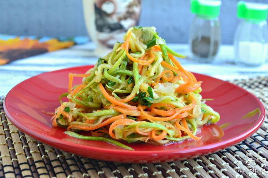 Салат из кабачков по-корейски | рецепт пошагово, фото, отзывы