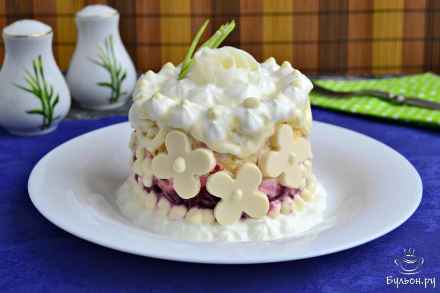 """Салат """"Невеста"""" с плавленым сыром"""