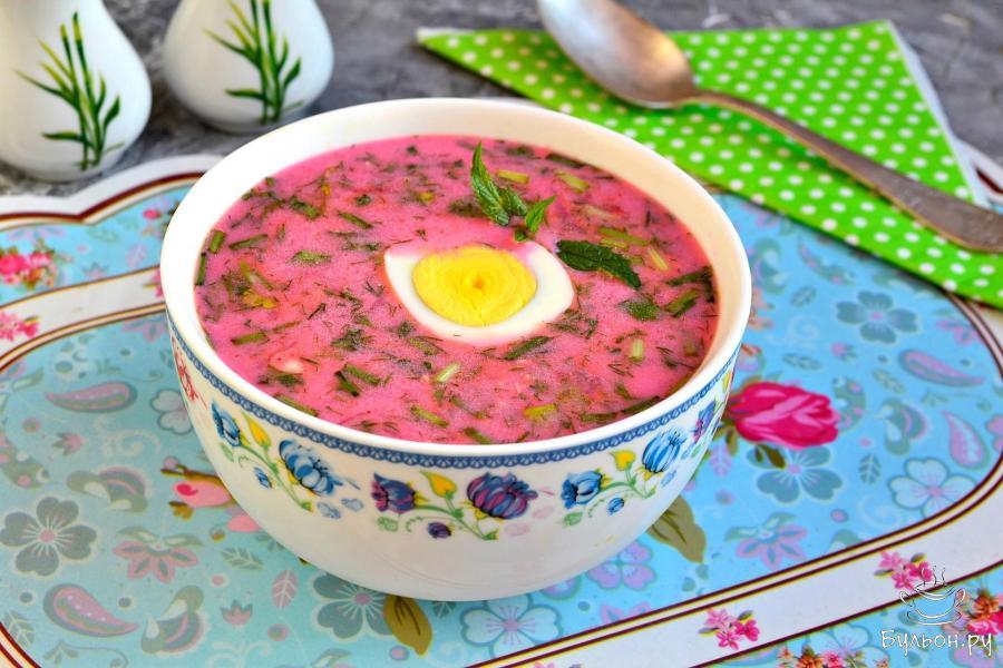 Свекольник рецепт с фото холодный на бульоне