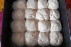 Как приготовить: украинские пампушки с чесноком. Выпекать в духовке 30 минут при температуре 190 градусов.